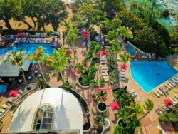 Pool area from above at Condado Plaza HIlton San Juan Puerto Rico 1