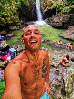 Rob Taylor at Lower La Mina Falls Rainforest El Yunque National Forest Puerto Rico 2