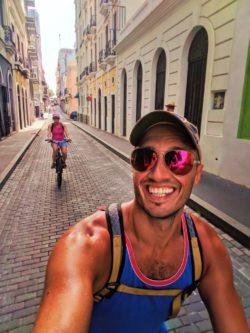 Rob Taylor biking in Old San Juan Puerto Rico 1