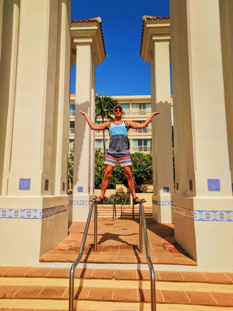 Rob Taylor by the pool at El Conquistador Resort Puerto Rico 1