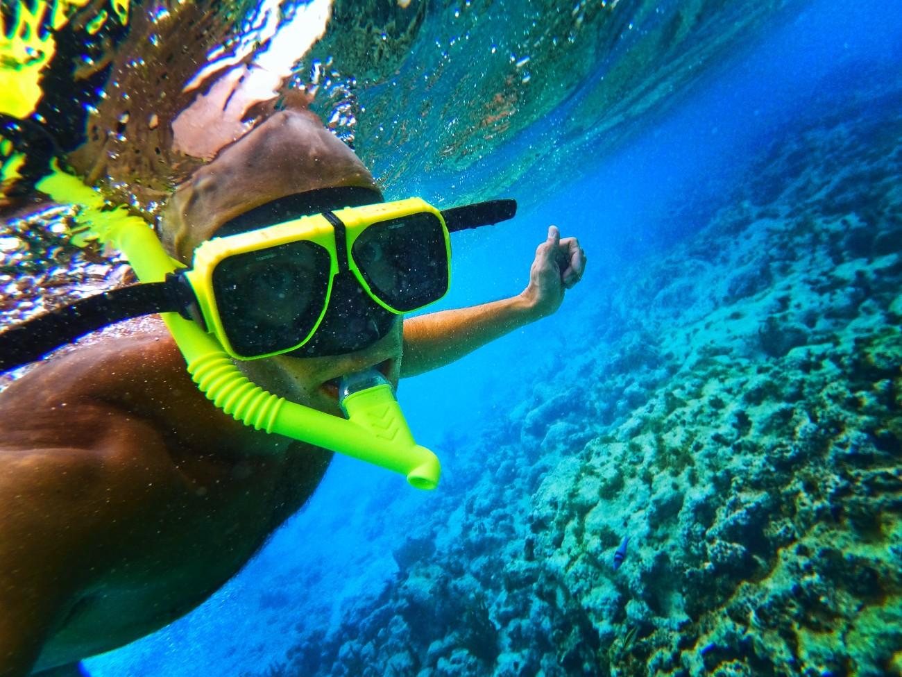 Rob Taylor snorkeling Isla Palominito Puerto Rico 1