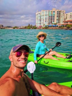 Rob and Maureen Kayaking on Laguna Condado San Juan Puerto Rico 2