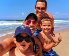 Taylor Family at Beach at Oso Flaco Lake Nature Preserve Nipomo 1