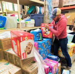 Taylor Family at WestSide Baby National Diaper Bank Network Huggies 3