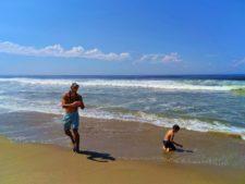 Taylor family on beach at Oso Flaco Lake Nature Preserve Nipomo 15