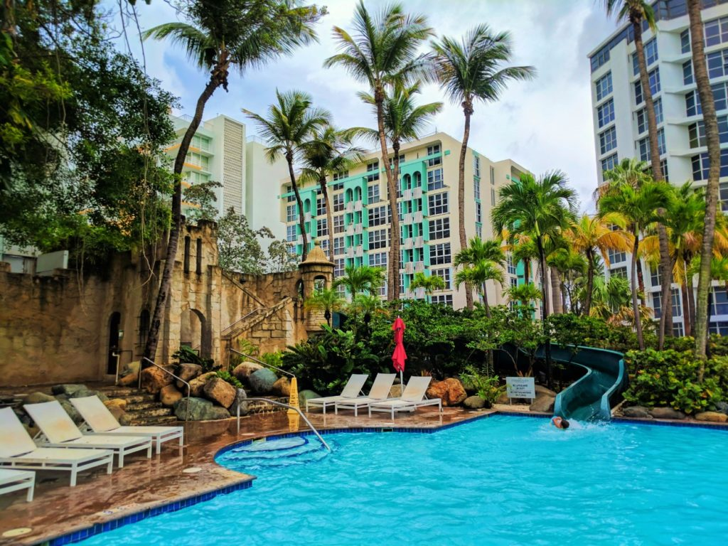 Waterslide Swimming pool at Condado Plaza Hilton San Juan Puerto Rico 1