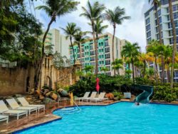 Waterslide Swimming pool at Condado Plaza Hilton San Juan Puerto Rico 1