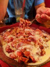 White Chocolate Cherry Breadpudding at Shaws Steakhouse Santa Maria California 1