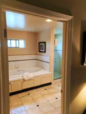 Bungalow Bathroom at Cambria Pines Lodge California Central Coast 1