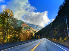 Fall colors on Highway 2 above Flathead River Flathead National Forest Montana 3