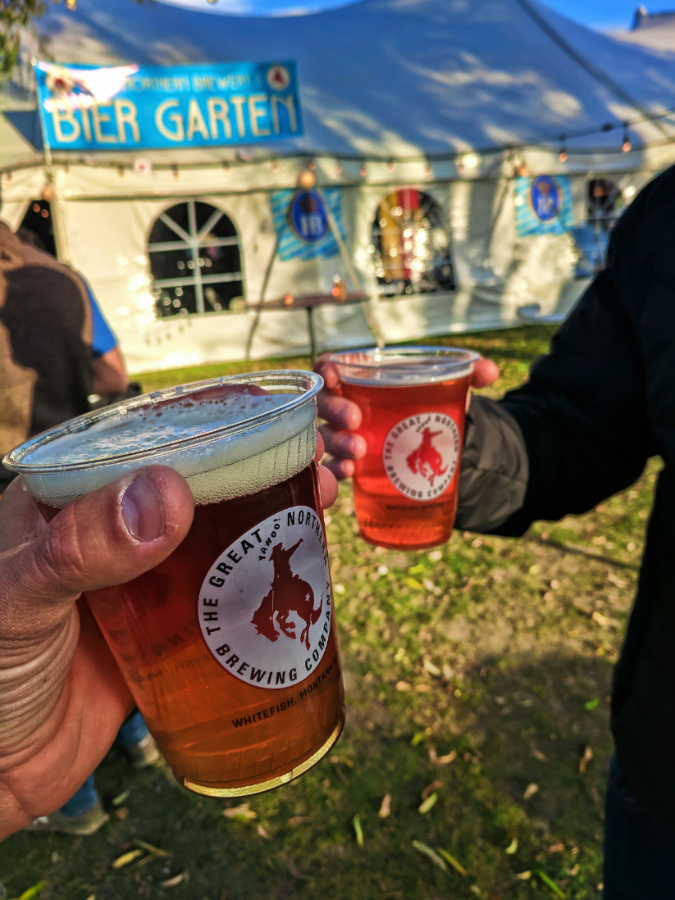 Great Northern Beers at Oktoberfest Whitefish Montana 1