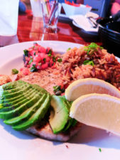 Grilled salmon at Moonstone Beach Bar and Grill Cambria Central Coast 1
