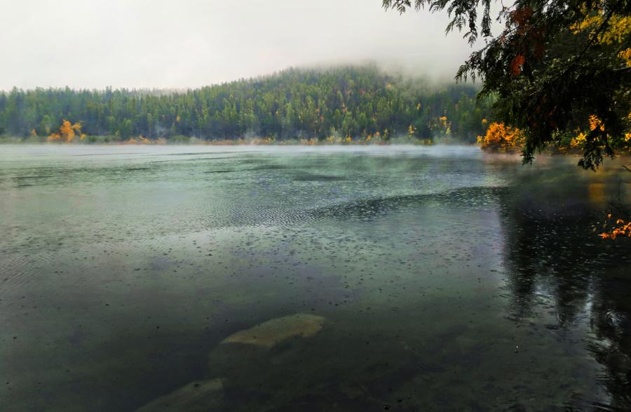 Lion Lake with Fall Colors Flathead County Montana 1