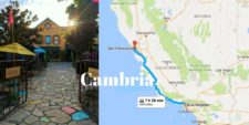 Map of Cambria California