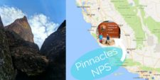 Hiking in Pinnacles National Park in California is a beautiful and fascinating experience with caves, desert and canyons unlike any other national park. 2traveldads.com