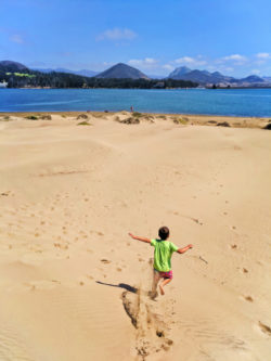 Taylor Family Kayaking to Sand Dunes in Morro Bay San Luis Obispo 4
