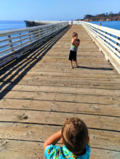 Taylor Family at Fishing Pier at Hearst San Simeon State Park 1
