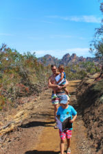 Taylor Family at Pinnalces National Park Talus Caves Trail 15