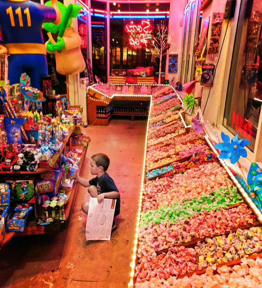 Taylor Family at Rocket Fizz Candy Shop Downtown San Luis Obispo 1