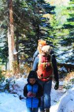Taylor Family hiking at Two Medicine Lake Glacier National Park 4