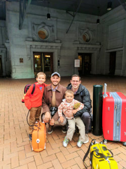 Taylor Family in Amtrak King Street Station Seattle 14