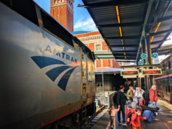 Taylor Family in Amtrak King Street Station Seattle 23