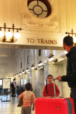 Taylor Family in Amtrak King Street Station Seattle 4
