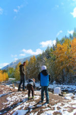 Taylor Family in fall on Flathead River Flathead National Forest Montana 4