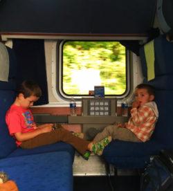 Taylor Family in sleeping cab Amtrak Empire Builder 1