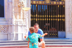 Taylor Family on tour at Hearst Castle San Simeon California State Park 1