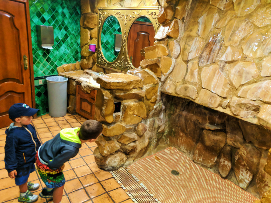 Waterfall urinal at the Madonna Inn San Luis Obispo 2