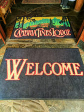 Welcome Mats at Cambria Pines Lodge California Central Coast 1