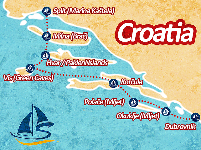 Croatian Sailing map