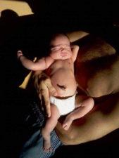 Baby Taylor newborn in sunlight 1
