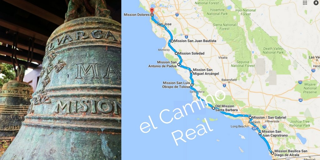 El Camino Real California Missions map - 2 Travel Dads on