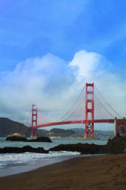 Golden Gate Bridge from Baker Beach GGNRA San Francisco 5