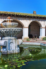 Lily Pond Fountain at Entrance to Mission San Miguel Archangel 2