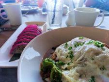 Loco Moco breakfast with Dragonfruit at Disney Aulani 1