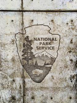 NPS Logo Concrete Emboss GGNRA San Francisco 1