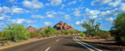 Road and rock formations at Papago Park Phoenix Tempe 2