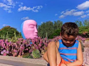 Taylor Family at Desert Botanical Garden Phoenix Tempe 3