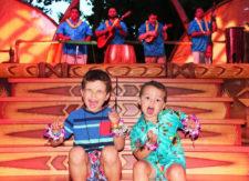 Taylor Family at Ka Waa Luau Disney Aulani Oahu 2