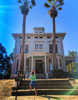 Taylor Family at mansion at John Muir National Historic Site Martinez East Bay 1