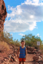 Taylor Family hiking at Hole in the Rock at Papago Park Phoenix Tempe 2