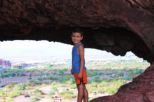 Taylor Family hiking at Hole in the Rock at Papago Park Phoenix Tempe 5