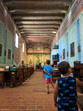 Taylor Family in chapel at Mission San Miguel Archangel 1