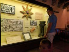 Taylor Family inside museum at Mission Santa Barbara 1