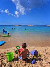 Taylor Family on beach at Disney Aulani Oahu 1