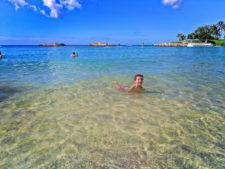 Taylor Family on beach at Disney Aulani Oahu 2