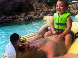 Taylor family on Lazy River at Disneys Aulani 1